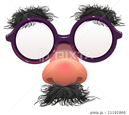 Funny glasses nose. Surface nose and glasses 21192866