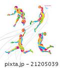 Basketball players collection vector 21205039