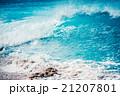 激しい大波,ハワイのノースショア 21207801