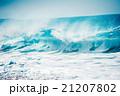 激しい大波,ハワイのノースショア 21207802