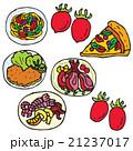 イタリア料理 イタリアン 食べ物のイラスト 21237017