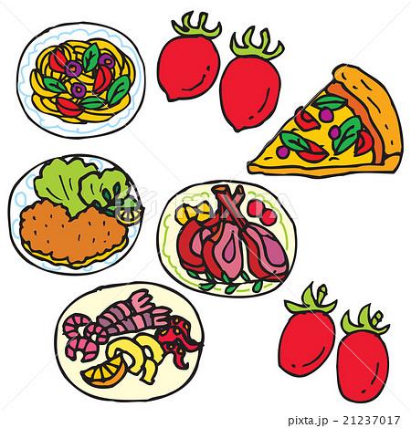 イタリア料理いろいろのイラスト素材 21237017 Pixta