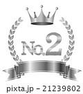 王冠 2 リボンのイラスト 21239802