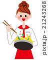 女性 調理 クッキングのイラスト 21243268