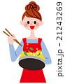 女性 調理 クッキングのイラスト 21243269
