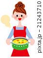 調理 クッキング 女性のイラスト 21243710