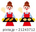 パンを焼く女性 21243712