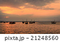 Traditional dhow boats at sunset 21248560