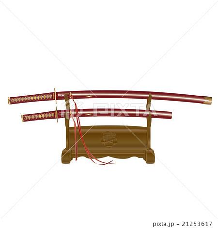 日本刀大小拵え刀身有り赤 21253617