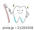 歯 歯磨き 歯ブラシのイラスト 21264308