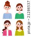 若者 表情 女性のイラスト 21286537