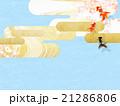 和柄 背景素材 流れのイラスト 21286806