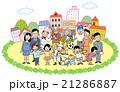 人々 人物 街のイラスト 21286887