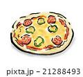 食べ物 ピザ 料理のイラスト 21288493