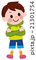男の子 子供 笑顔のイラスト 21301754