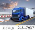 自動運転 ハイブリッド トラックのイラスト 21317937