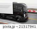 自動運転 ハイブリッド トラックのイラスト 21317941