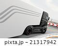 自動運転 ハイブリッド トラックのイラスト 21317942
