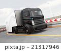 自動運転 ハイブリッド トラックのイラスト 21317946