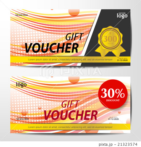 Gift Voucher Template, red color toneのイラスト素材 [21323574] - PIXTA