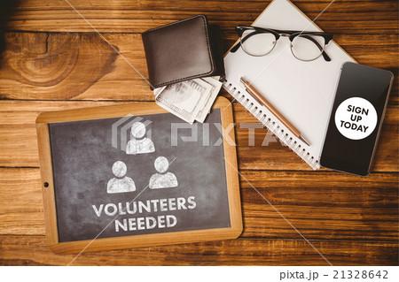 Composite image of volunteers neededの写真素材 [21328642] - PIXTA