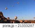 カッパドキアの気球と朝焼け 21333207