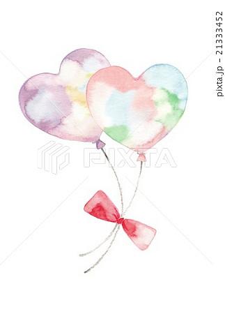 風船ふたつ 淡いピンクと紫のイラスト素材 21333452 Pixta