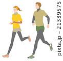 ランニング 走る ランナーのイラスト 21339575