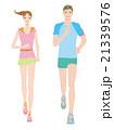 ランニング 走る ランナーのイラスト 21339576
