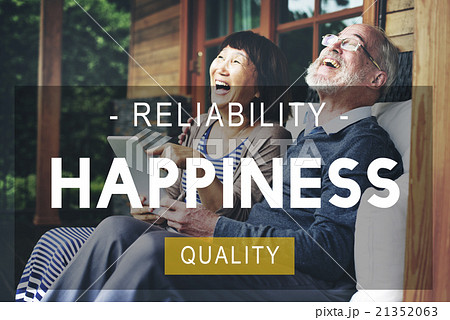 Happiness Reliability Quality Life Living Conceptの写真素材 [21352063] - PIXTA