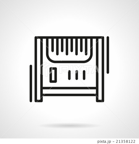 Radiator heater black line vector iconのイラスト素材 [21358122] - PIXTA
