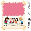 子供 子 紙のイラスト 21359403