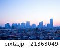 夜明け 都市風景 朝もやの写真 21363049