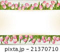 Pink tulips with space for text. EPS 10 21370710