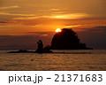 日本の夕景100選 西伊豆田子の夕日 21371683