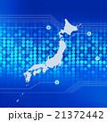 ビジネス ネットワーク 日本列島のイラスト 21372442