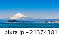 富士山と湘南海岸 21374381