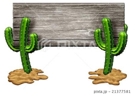 Cactus Signのイラスト素材 [21377581] - PIXTA