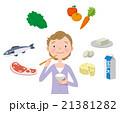女生と食事 21381282