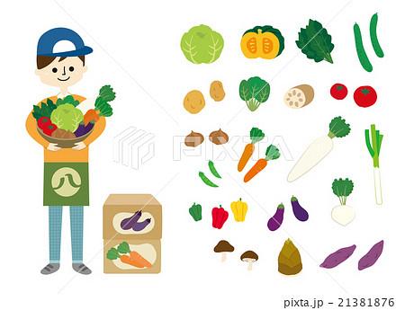 八百屋 野菜 イラスト 21381876