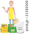 ゴミ 分別 リサイクルのイラスト 21382008