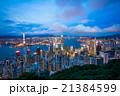 香港 ビクトリアピークから望む100万ドルの夜景 21384599