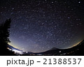 御坂山地・雪頭ヶ岳から星空と富士山 21388537