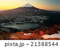 御坂山地・雪頭ヶ岳から未明の富士山と西湖 21388544