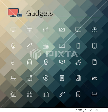 Gadgets Line Icons 21389809