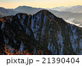 御坂山地・雪頭ヶ岳から見る十二ヶ岳・三ツ峠と河口湖 21390404