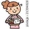 弁当 ベクター 笑顔のイラスト 21394028