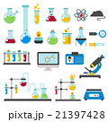 Graphic set chemical laboratory science flat 21397428