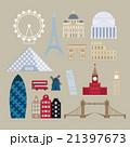 Flat cartoon style historic sight european 21397673