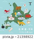 北海道 イラストマップ 21398922